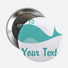 "Personalizable Cute Whale 2.25"" Button"