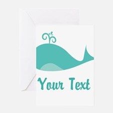 Personalizable Cute Whale Greeting Cards