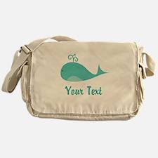 Personalizable Cute Whale Messenger Bag
