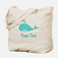 Personalizable Cute Whale Tote Bag