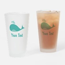 Personalizable Cute Whale Drinking Glass