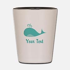 Personalizable Cute Whale Shot Glass
