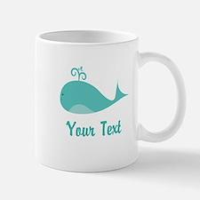 Personalizable Cute Whale Mugs