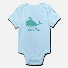 Personalizable Cute Whale Body Suit
