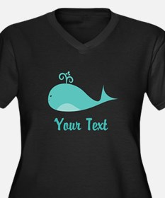 Personalizable Cute Whale Plus Size T-Shirt