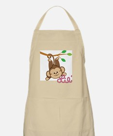 Lil Monkey Pink Girl Apron