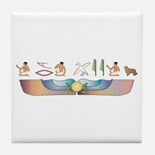 Clumber Hieroglyphs Tile Coaster