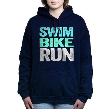 Triathlon. Swim. Bike. Run. Women's Hooded Sweatsh