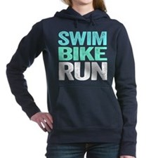 Triathlon. Swim. Bike. Run. Women's Hooded Sweatsh