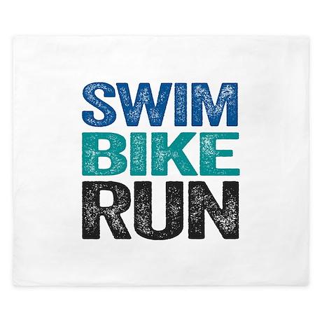 Triathlon. Swim. Bike. Run. King Duvet