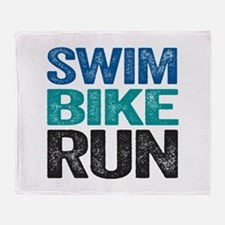 Triathlon. Swim. Bike. Run. Throw Blanket