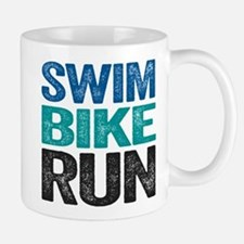 Triathlon. Swim. Bike. Run. Mugs