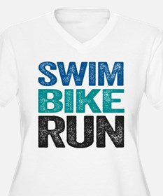 Triathlon. Swim. Bike. Run. Plus Size T-Shirt