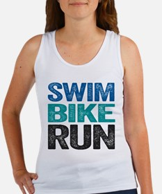 Triathlon. Swim. Bike. Run. Tank Top