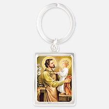 Joseph & Jesus Portrait Keychain