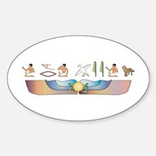 Chinook Hieroglyphs Oval Decal