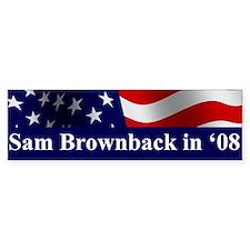 Brownback Bumper Bumper Sticker