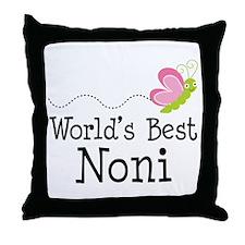 World's Best Noni Throw Pillow
