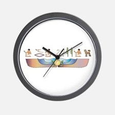 Crested Hieroglyphs Wall Clock