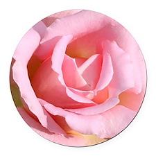 Pink rose Round Car Magnet