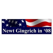 Gingrich Bumper Car Car Sticker