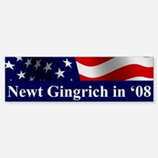 Gingrich Bumper Car Car Sticker