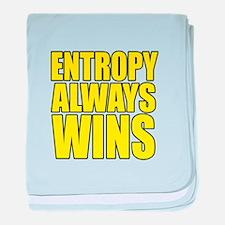 Entropy Always Wins 3 baby blanket