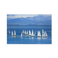 Sail Boats Rectangle Magnet