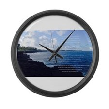 The reason I exist Large Wall Clock
