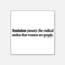 FEMINISMDEFINED1white Sticker
