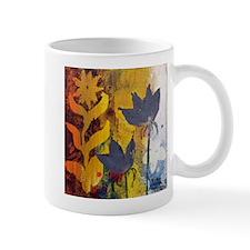 gray flower yellow flower Mugs