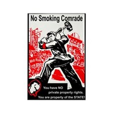 Smoking Ban Protest Gear Rectangle Magnet