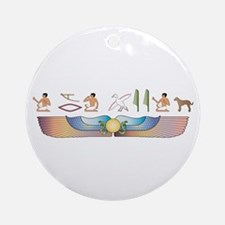 Catahoula Hieroglyphs Ornament (Round)