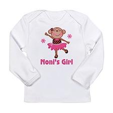 Noni's Girl Monkey Long Sleeve Infant T-Shirt