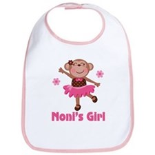Noni's Girl Monkey Bib