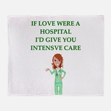 hospital Throw Blanket
