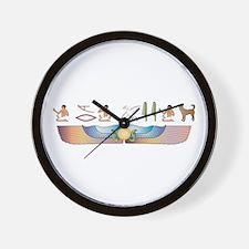Canaan Hieroglyphs Wall Clock