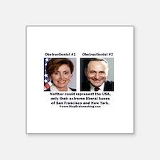 "liberals - today's brown Square Sticker 3"" x 3"""