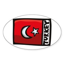 Turkish Flag Oval Decal
