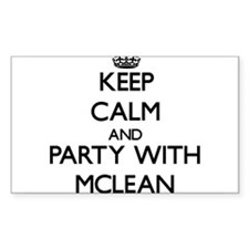 Keep calm and Party with Mclean Decal
