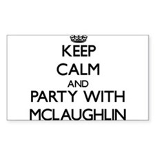 Keep calm and Party with Mclaughlin Bumper Stickers