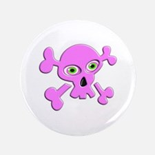 """PINK SKULL BY CANDIDOG 3.5"""" Button"""