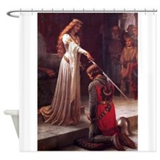 Middle Ages Accolade of Knight Shower Curtain