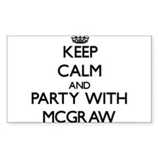 Keep calm and Party with Mcgraw Decal