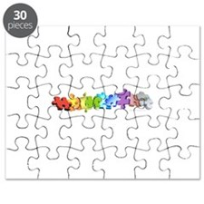 A Rainbow of Puzzles (white) Puzzle