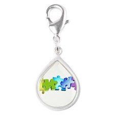 A Rainbow of Puzzles (white) Charms