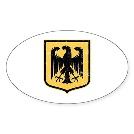 Strk3 German Eagle Oval Sticker