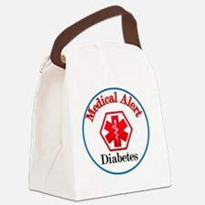 medical alert diabetes Canvas Lunch Bag