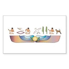 Bracco Hieroglyphs Rectangle Decal