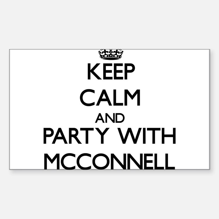 Keep calm and Party with Mcconnell Decal